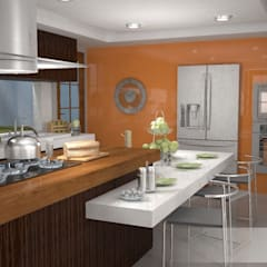Residencia R+K: Cocinas de estilo  por gciEntorno
