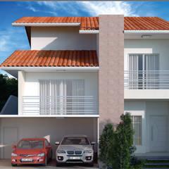 Residências de 3 dorm.: Casas familiares  por D'Ateliê