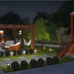 Jardines zen de estilo  por D'Ateliê