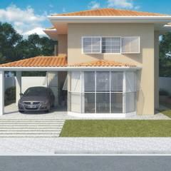 Residências de 2 dorm.: Casas familiares  por D'Ateliê