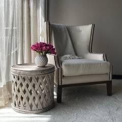 detalle habitación principal: Habitaciones de estilo ecléctico por Ecologik
