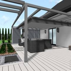 Projekt altany: styl , w kategorii Taras zaprojektowany przez Design We Are 3D
