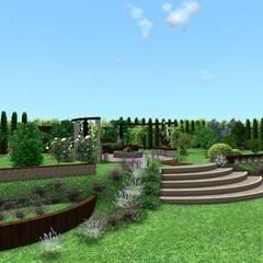 Projekt ogrodu na skarpie: styl , w kategorii Ogród zaprojektowany przez Design We Are 3D