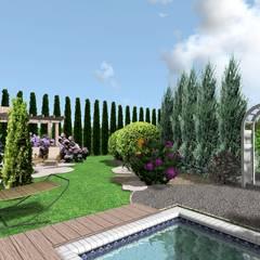 Projekt ogrodu śródziemnomorskiego: styl , w kategorii Ogród zaprojektowany przez Design We Are 3D