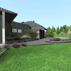 Projekt terenu zieleni : styl , w kategorii Willa zaprojektowany przez Design We Are 3D
