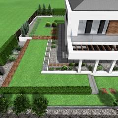 Projekt ogrodu nowoczesnego: styl minimalistyczne, w kategorii Domy zaprojektowany przez Design We Are 3D