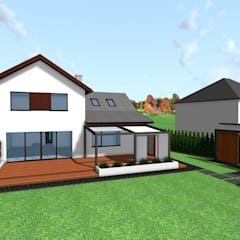 Projekt terenu zieleni: styl , w kategorii Taras zaprojektowany przez Design We Are 3D