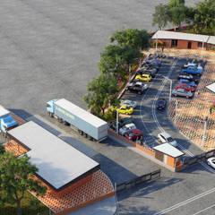 SEDE ADMINISTRATIVA DE PLANTA DE PROCESAMIENTO DE ARCILLAS - COLOMBIA Bodegas de estilo industrial de Arquitectura Positiva Industrial