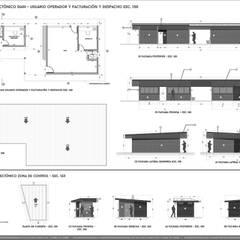 SEDE ADMINISTRATIVA DE  PLANTA DE PROCESAMIENTO DE ARCILLAS - COLOMBIA : Estudios y despachos de estilo  por Arquitectura Positiva