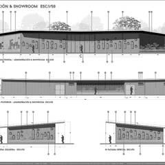 SEDE ADMINISTRATIVA DE  PLANTA DE PROCESAMIENTO DE ARCILLAS - COLOMBIA : Casas de estilo  por Arquitectura Positiva