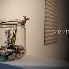 DETALLE: Pasillos y recibidores de estilo  por CLAROSCURO ESTUDIO DE ARQUITECTURA