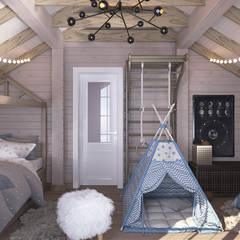 детская в деревянном доме: Детские комнаты в . Автор – needsomespace