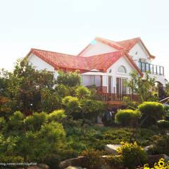 서천3호 35평형 친환경ALC전원주택: W-HOUSE의  전원 주택