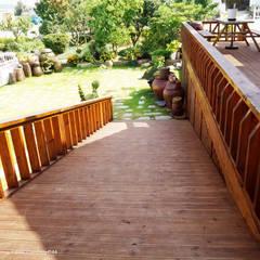 서천3호 35평형 친환경ALC전원주택: W-HOUSE의  계단