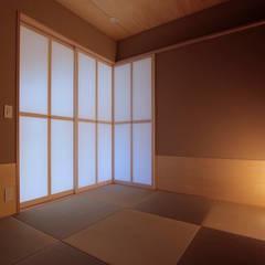 北大和の家: ニュートラル建築設計事務所が手掛けた和室です。,ミニマル
