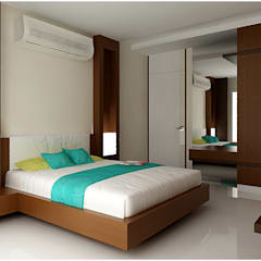 INTERIOR: modern Bedroom by RAJESH GAJJAR arch.int dsr