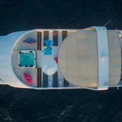 sun deck: styl , w kategorii Jachty i motorówki zaprojektowany przez oshi pracownia projektowa