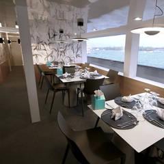 jadalnia: styl , w kategorii Jachty i motorówki zaprojektowany przez oshi pracownia projektowa