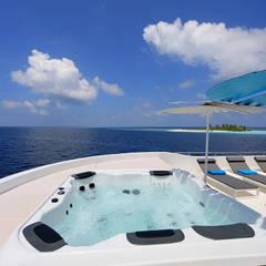 basen sun deck: styl , w kategorii Jachty i motorówki zaprojektowany przez oshi pracownia projektowa