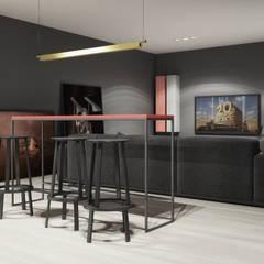 dom: styl , w kategorii Pokój multimedialny zaprojektowany przez oshi pracownia projektowa