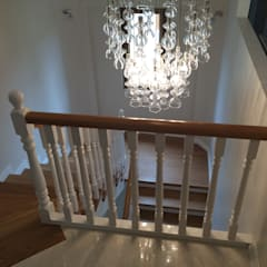 HEBART MİMARLIK DEKORASYON HZMT.LTD.ŞTİ. – İdealistkent villa:  tarz Merdivenler