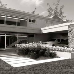 CASA VS: Casas de campo de estilo  por áwaras arquitectos