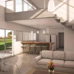CASA VS: Livings de estilo  por áwaras arquitectos,Clásico