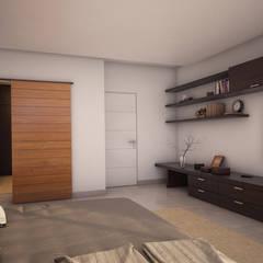 CASA VS: Dormitorios de estilo  por áwaras arquitectos