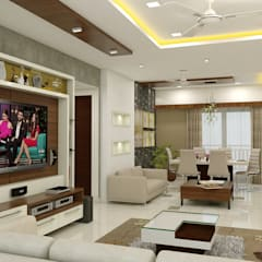 project kukatpally:  Living room by shree lalitha consultants