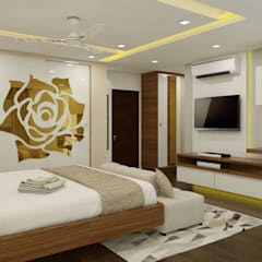 3 BHK flat @ Lodha Meridian:  Bedroom by shree lalitha consultants