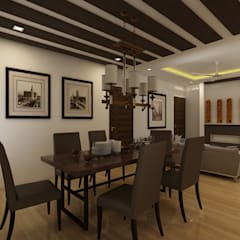 Dining room by Regalias India Interiors & Infrastructure