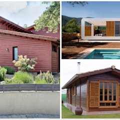 Wooden houses by press profile homify