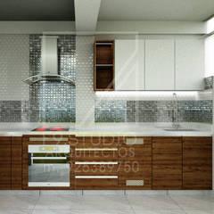 Vista frontal de Cocina: Muebles de cocinas de estilo  por F9 studio Arquitectos
