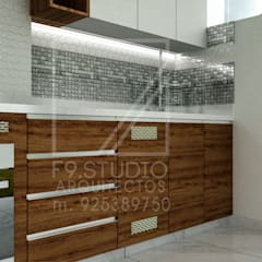 Diseño de Cocina - Tacna, Peru: Muebles de cocinas de estilo  por F9.studio Arquitectos,