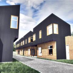 Projekty,  Dom szeregowy zaprojektowane przez NidoSur Arquitectos