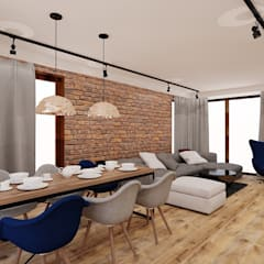 70 m² w Imielinie: styl , w kategorii Jadalnia zaprojektowany przez Piec Piąty