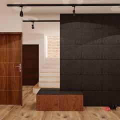 70 m² w Imielinie: styl , w kategorii Korytarz, przedpokój zaprojektowany przez Piec Piąty