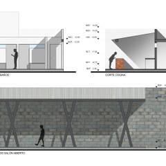 Secciones de proyecto: Bungalows de estilo  por ODRACIR