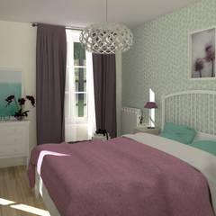 Le réveil d'une Rochefortaise oubliée: Chambre de style de style Classique par MJ Intérieurs