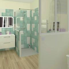 La salle d'eau privative: Salle de bains de style  par MJ Intérieurs