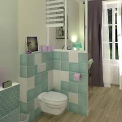 Le réveil d'une Rochefortaise oubliée: Salle de bains de style  par MJ Intérieurs