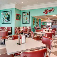 RESTAURANTE PIC NIC AMERICAN& BURGUER: Espaços gastronômicos  por FERNANDA JUNG ARQUITETURA