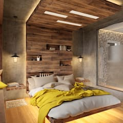 Bedroom by H9 Design, Industrial