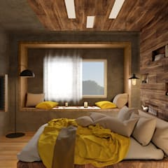 Private Apartment:  Bedroom by H9 Design