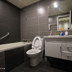 高雄三民 林公館:  浴室 by 協億室內設計有限公司