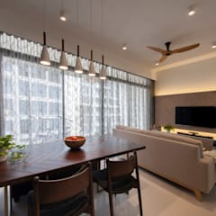 THE SKYWOODS Scandinavian style living room by Eightytwo Pte Ltd Scandinavian