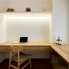 SKY HABITAT Scandinavian style study/office by Eightytwo Pte Ltd Scandinavian Wood Wood effect