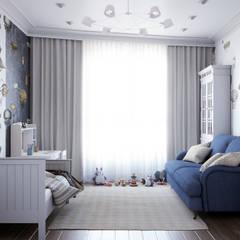 Квартира в ЖК Лобачевский: Спальни для мальчиков в . Автор – MonDesign