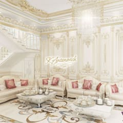 ​The brilliance of luxury in the interiors of Katrina Antonovich:  Corridor & hallway by Luxury Antonovich Design,