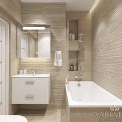 Дизайн однокомнатной квартиры - 44 м²: Ванные комнаты в . Автор – variatika
